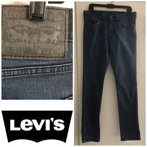 Levi's 511 Black Jeans 32 X 34